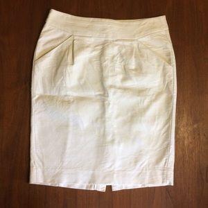 J Crew White Pencil Skirt